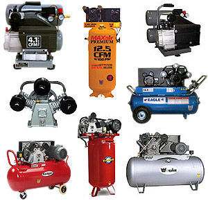 Different types of compressors